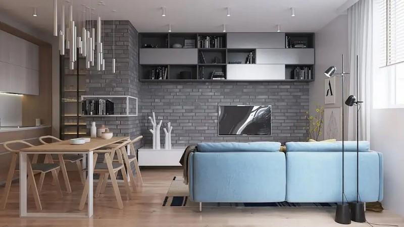 Phong cach HiTech thuong chu trong su dung nhung vat lieu nhan tao de dem den khong gian moi me - [ Top 12 + ] Mẫu thiết kế nội thất chung cư tại Hà Nội đẹp nhất