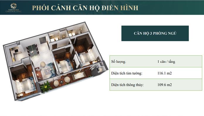 Thiet ke can ho 3 phong ngu 2 - Chung cư Sunshine Green Iconic