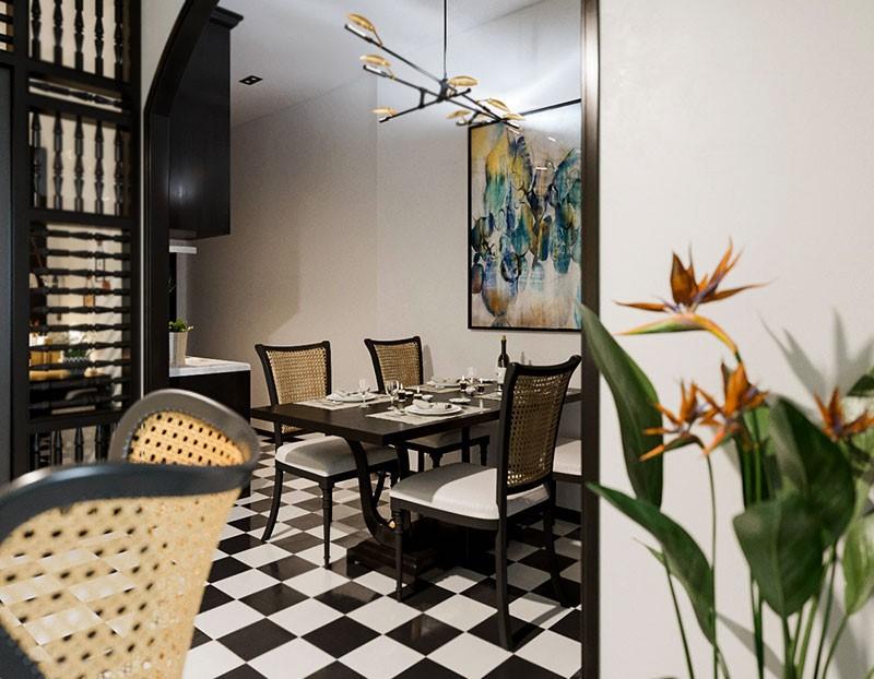 Thiet ke noi that theo kieu Indochine Style vua mang net co dien vua dem den mat me - [ Top 12 + ] Mẫu thiết kế nội thất chung cư tại Hà Nội đẹp nhất