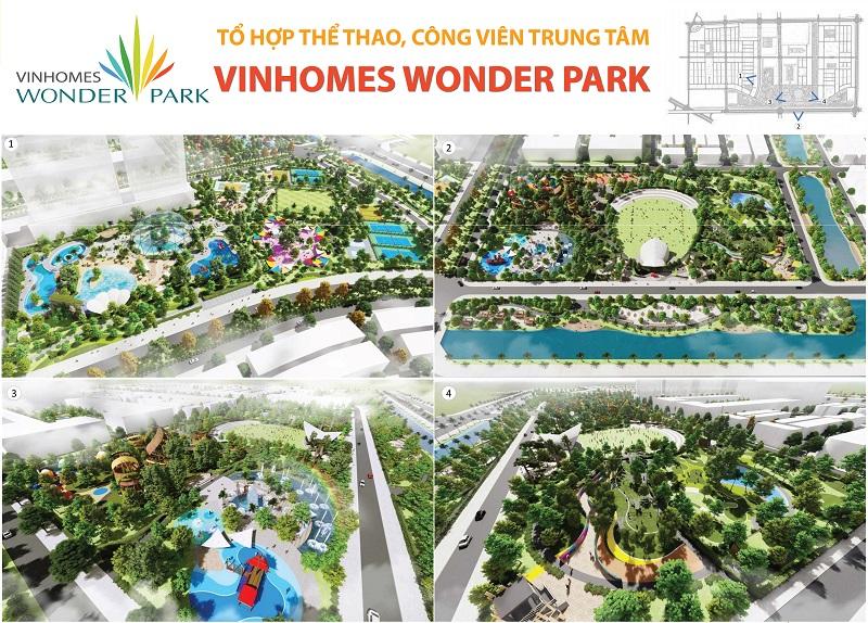 Tổ hợp thể thao, công viên Trung tâm Vinhomes Wonder Park