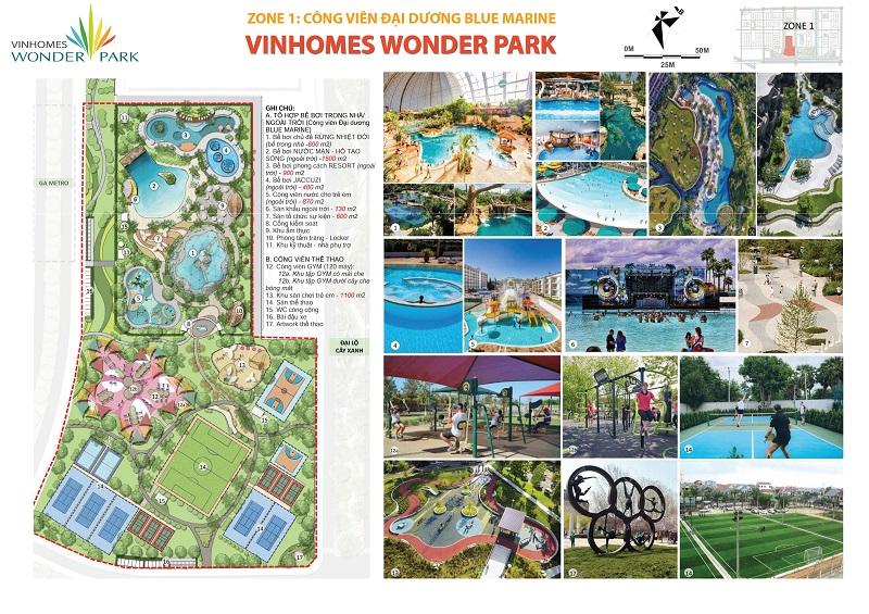 ZONE 1: Công Viên Đại Dương Blue Marine Vinhomes Wonder Park