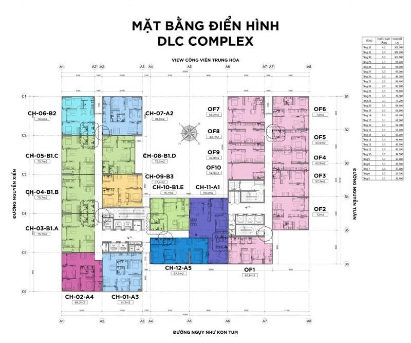 mat bang tong the du an min - CHUNG CƯ DLC COMPLEX