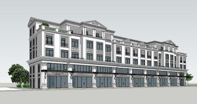 Thiết kế shophouse theo cấu trúc thông tầng và riêng biệt tương tự nhà phố liền kề