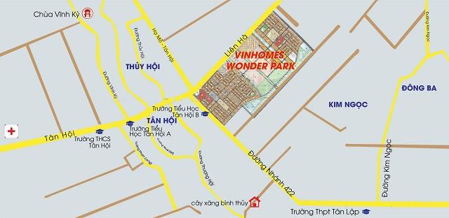 Vị trí tọa lạc Vinhomes Đan Phượng
