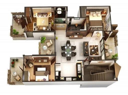 Mặt bằng căn hộ chung cư Vinhomes Giảng Võ