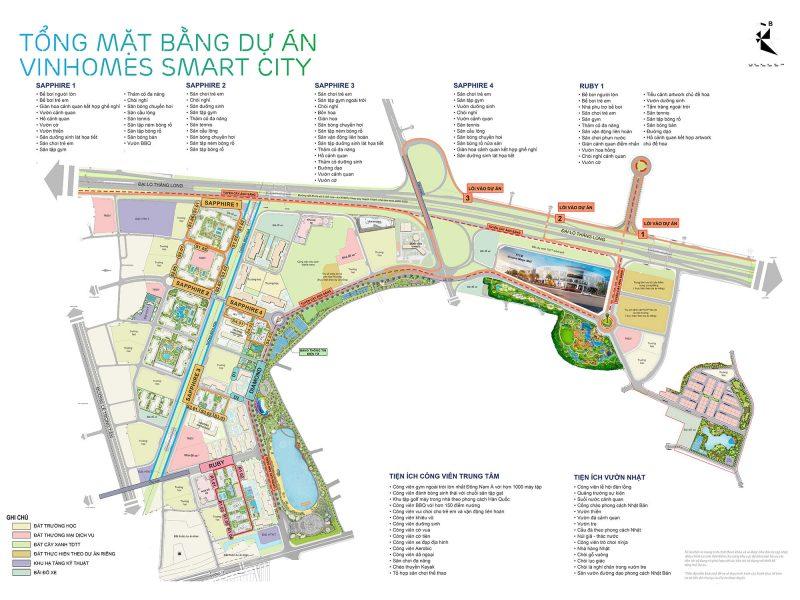 Mặt bằng tổng thể Vinhomes Smart City