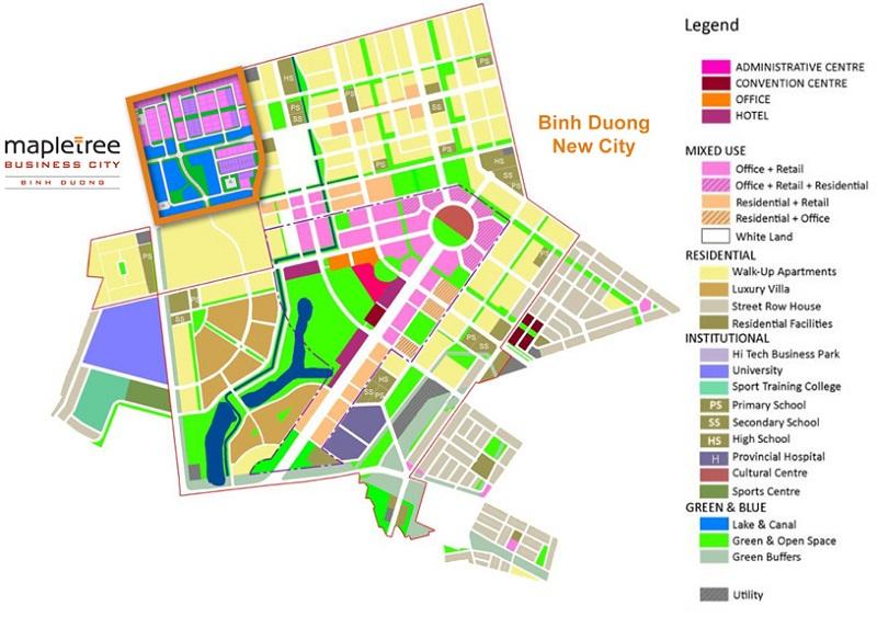 Bản đồ phân lô KCN MCB