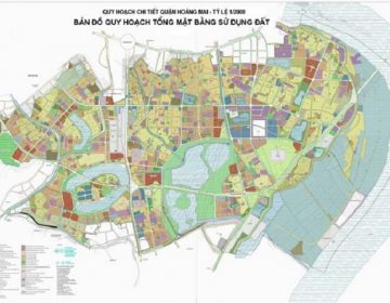 Ranh giới quy hoạch quận Hoàng Mai