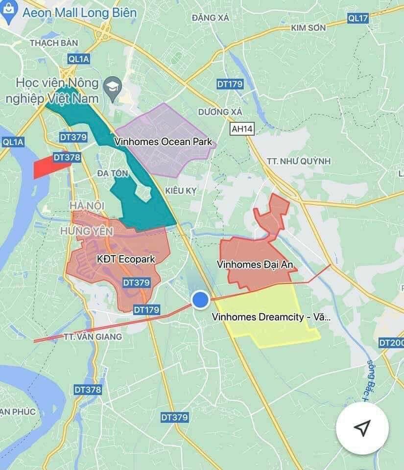 Vị trí Vinhomes Dream City Hưng Yên