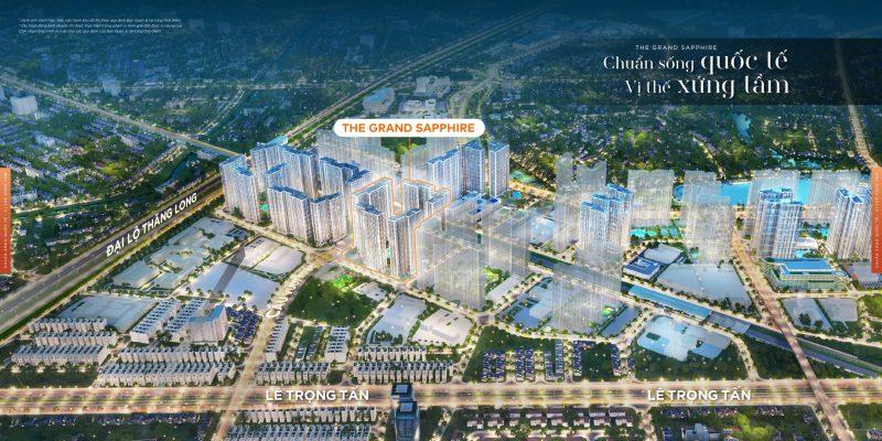 Vị trí Grand Sapphire GS1 Vinhomes Smart City