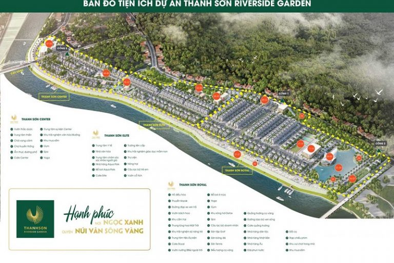 Dự án Thanh Sơn Riverside sở hữu chuỗi tiện ích cao cấp và độc đáo