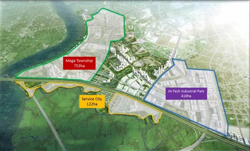KCN Amata sở hữu vị trí đắc địa tọa lạc ngay trung tâm huyện Long Thành