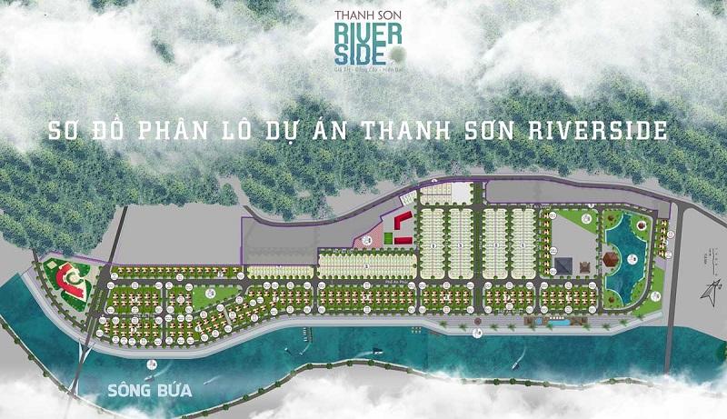Mặt bằng phân lô dự án đất nền Thanh Sơn Riverside Garden