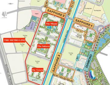 Các phân khu The Metroline Vinhomes Smart City