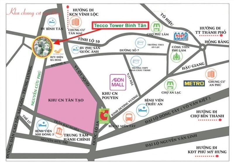 Dự án Tecco Town Bình Tân sở hữu vị trí đẹp, thuận lợi