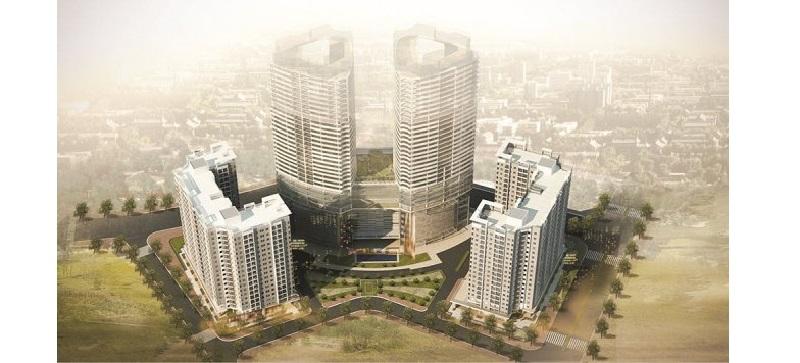Tổng thể dự án được thiết kế với chiều cao từ 18 – 40 tầng, gồm 3 tòa tháp 18T1, 18T2, 40T.