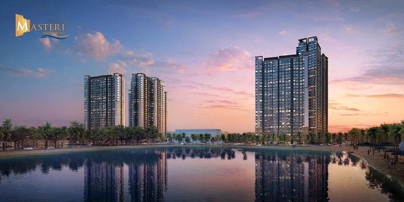 Ảnh 1: Masteri WaterFront Ocean Park là tổ hợp các tòa tháp căn hộ cao cấp