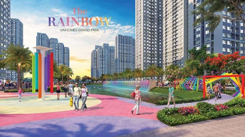 Ảnh 4: Thiết kế phân khu The Rainbow rất hiện đại, thoáng đãng