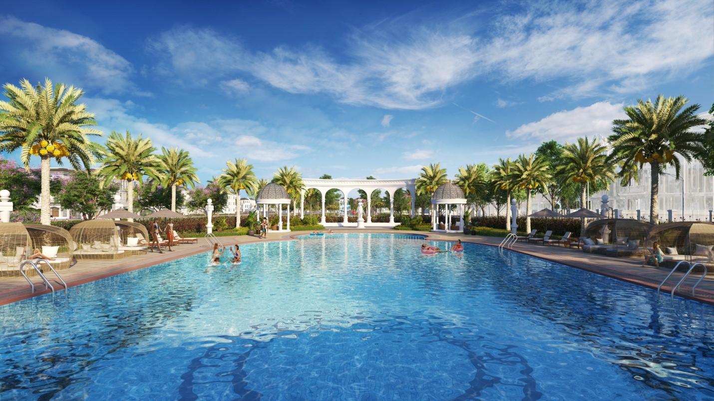 Bể bơi Hoàng Gia phong cách Resort tại Vinhomes Star City
