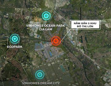 Dự án nằm rât gần 3 Khu đô thị lớn