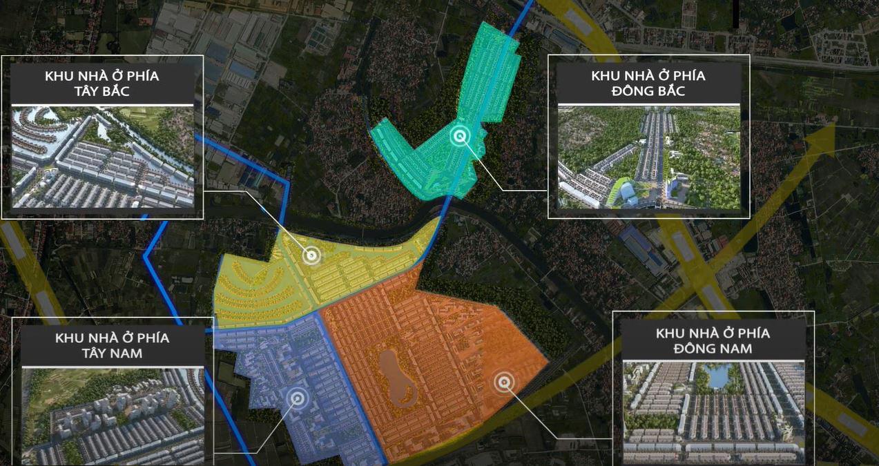 Mặt Bằng được chia làm 4 khu (Hình ảnh minh họa mang tính định hướng sản phẩm)