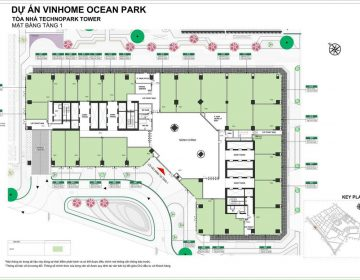 Mặt bằng Shop TechnoPark Vinhomes Ocean Park