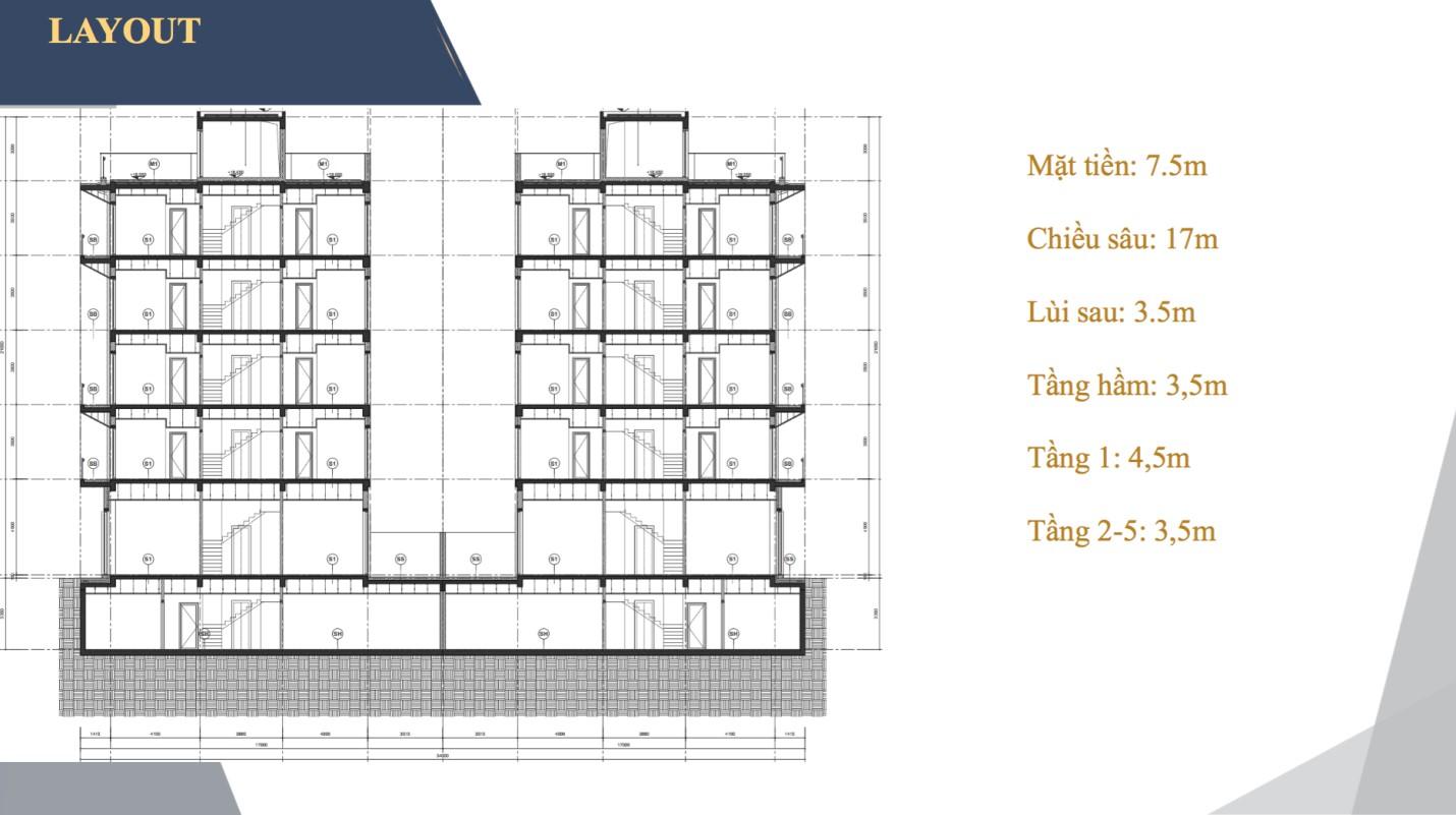 Shophouse Sun Marina Plaza Hạ Long được xây 6 tầng