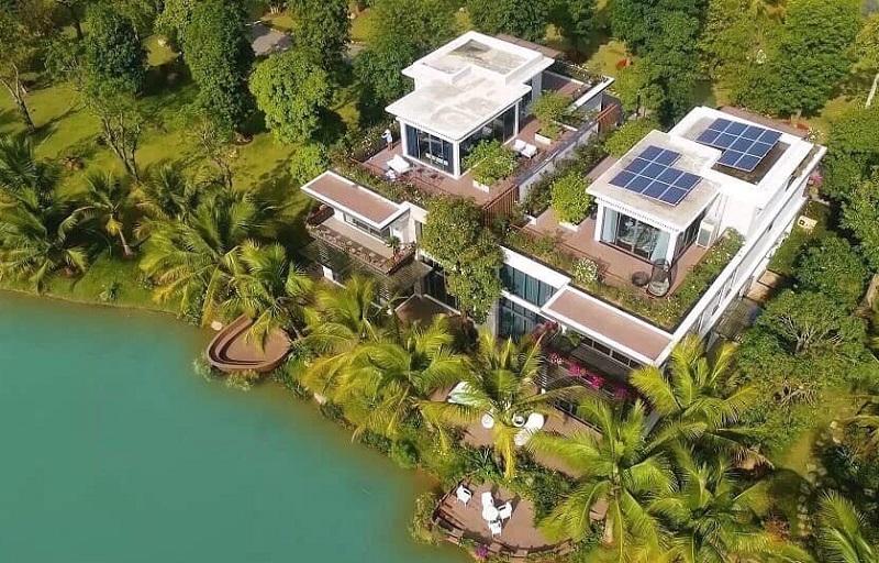 Thiết kế biệt thự đảoThe Island ngập tràn trong không gian xanh và mặt nước