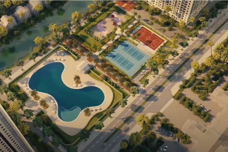 Tổ hợp các sân thể thao, bể bơi