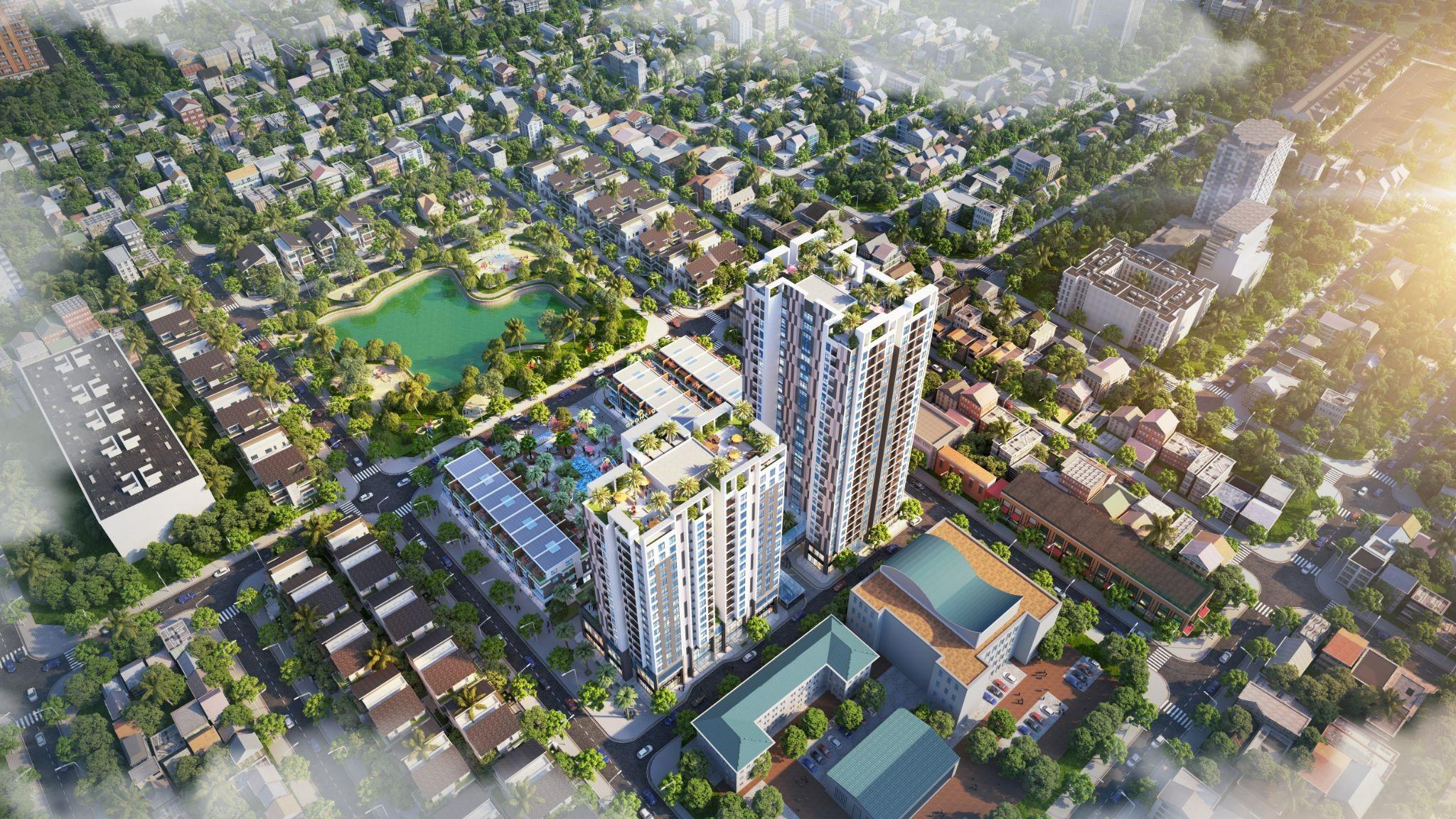 Vị trí của dự án nằm tại trung tâm kết nối vùng thuận tiện