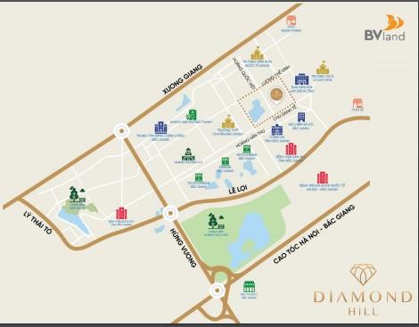 Vị trí dự án chung cư Bách Việt 2 Diamond Hill có nằm ở trung tâm không?