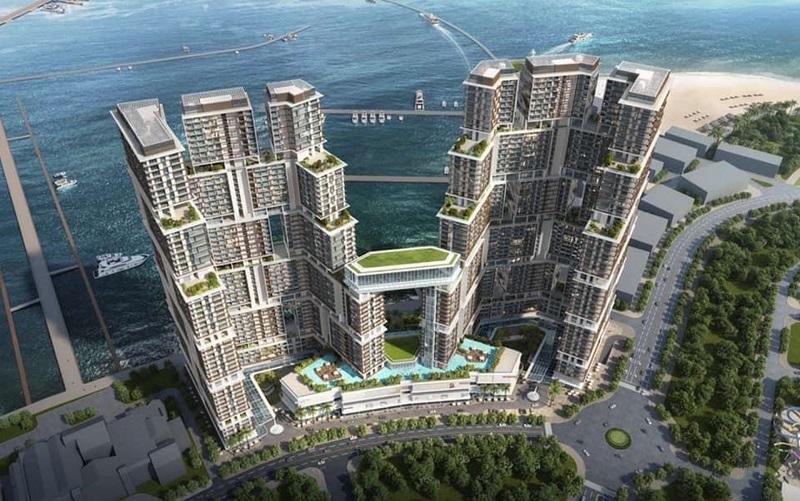Ảnh 3: Khu căn hộ cao tầng Sun Grand City Marina Hạ Long bao gồm 2 tòa tháp được liên kết với nhau