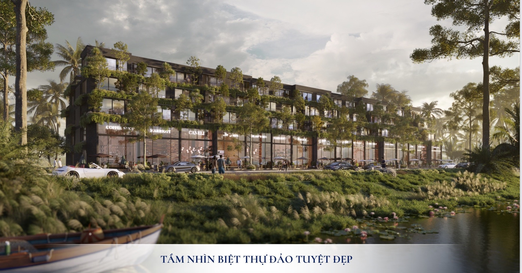 Các căn Biệt thự đơn lập Ecopark Vinh nằm tại vị trí đẹp nhất của dự án (Hình ảnh minh họa mang tính định hướng sản phẩm)
