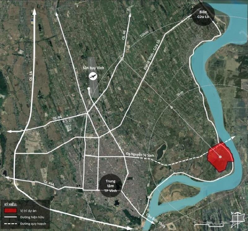 Dự án Ecopark Vinh có vị trí phong thủy đắc địa, giao thông kết nối thuận tiện