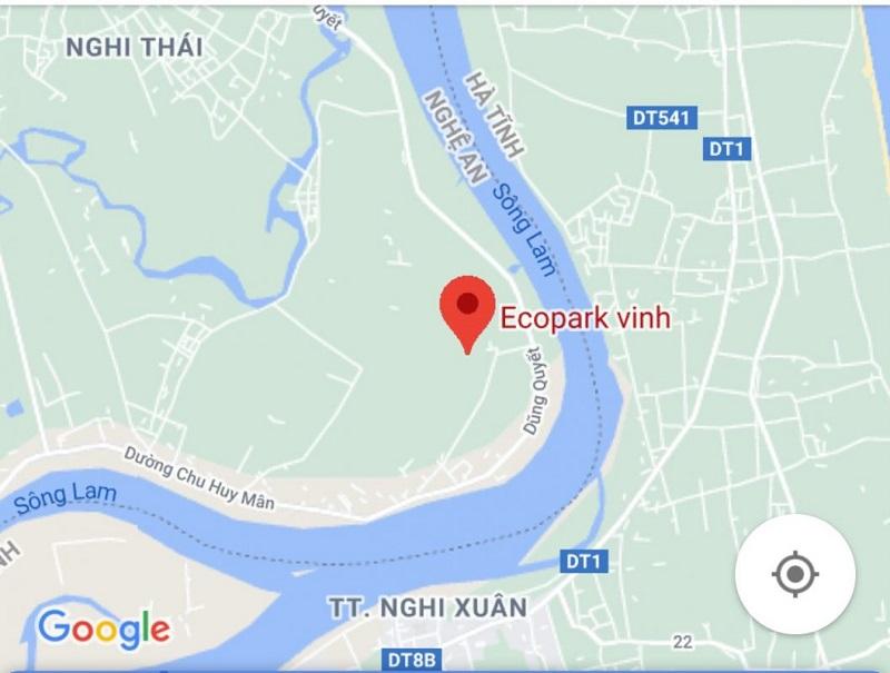 Dự án khu đô thị Ecopark Vinh nằm ở vị trí có giao thông kết nối dễ dàng