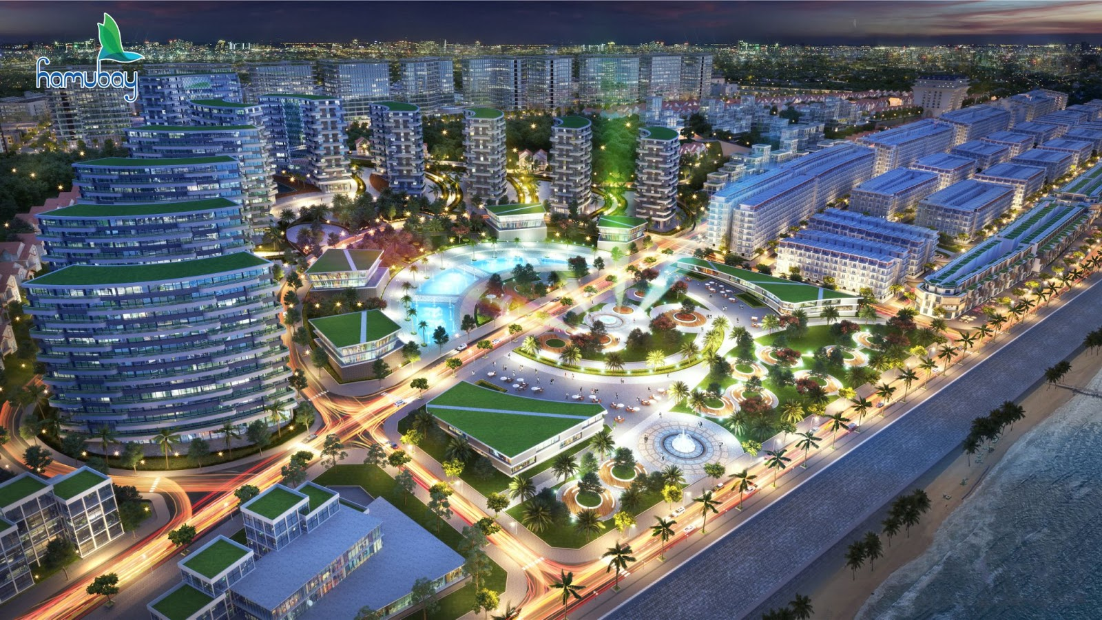 HMB Quang truong Ve dem - Dự án Hamubay Phan Thiết