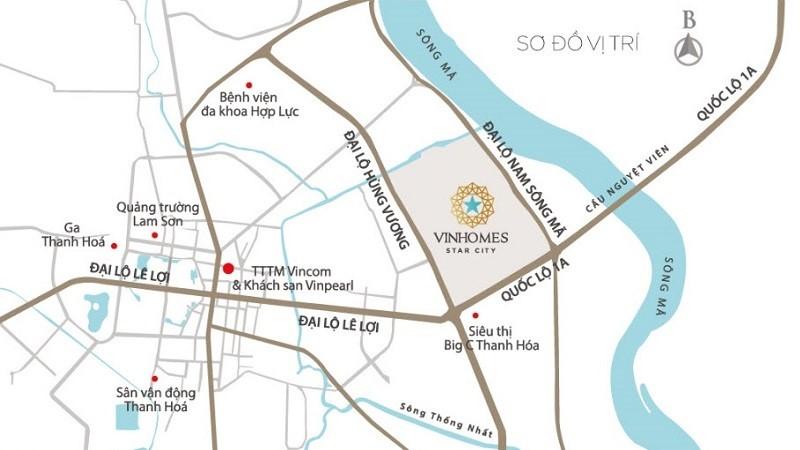 Vinhomes Star City tọa lạc trên Đại lộ Lê Lợi