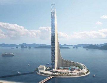 Ảnh 2: Tòa tháp Domino nằm trong quần thể công viên Đại Dương Hạ Long với rất nhiều lợi thế
