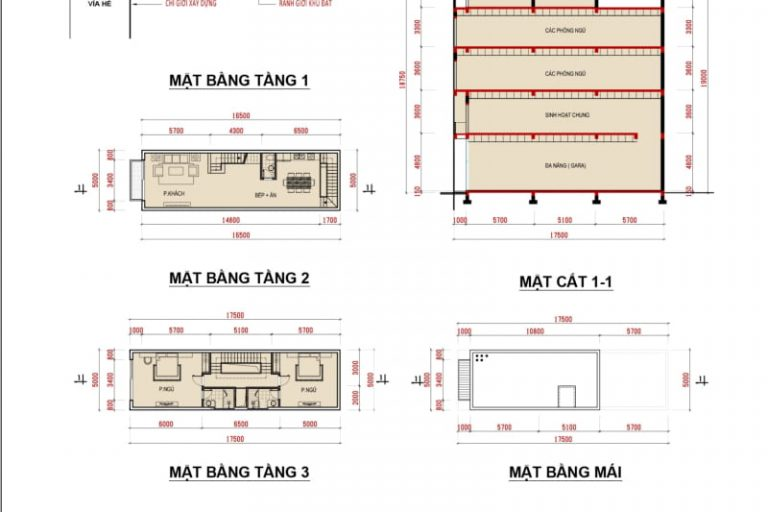 Ảnh 5: Thiết kế chi tiết mặt bằng liền kề Phương Đông Vân Đồn