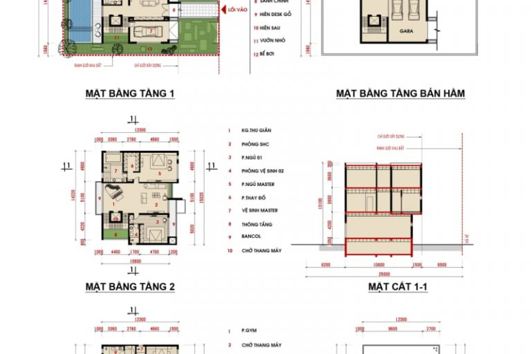 Ảnh 6: Thiết kế biệt thự dự án