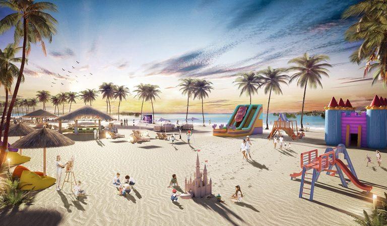 Bãi biển lung linh sắc màu