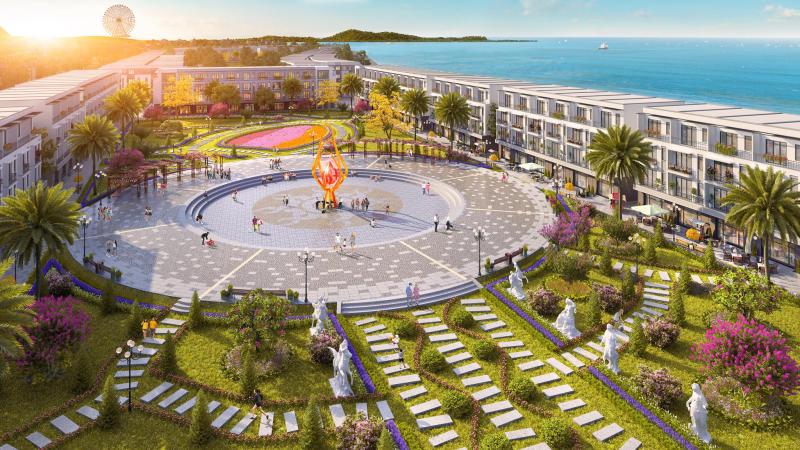 Chung cư FLC Tropical City Hạ Long có các quảng trường với thiết kế ấn tượng