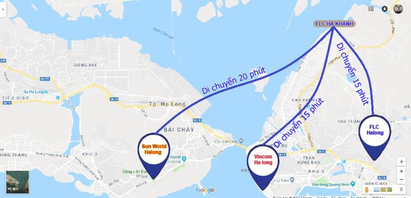 Dự án FLC Tropical City Hạ Long nằm ở khu vực trung tâm, có vị trí thuận lợi
