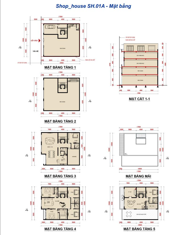 Thiết kế các căn Shophouse