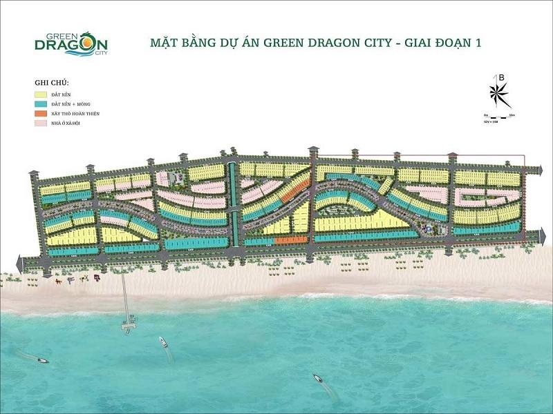 Mặt bằng dự án Green Dragon City giai đoạn 1