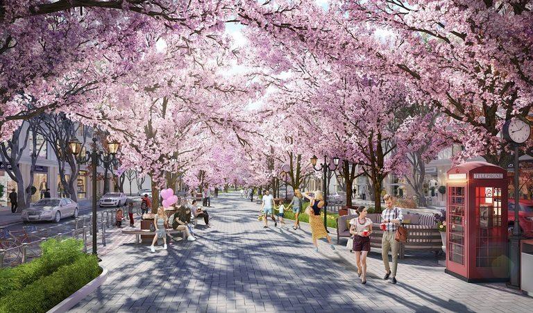 Phố đi bộ với thiên đường hoa cỏ