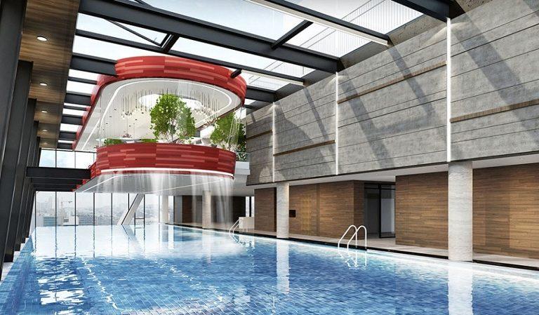 Bể bơi tại biệt thự Grandeur Palace 138 Giảng Võ