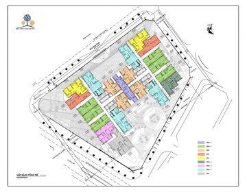 Mặt bằng tổng thể dự án BRG Diamond Residence 25 Lê Văn Lương