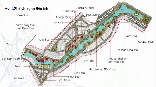 Khu đô thị Xanh Villas có vị trí đắc địa thuộc xã Tiến Xuân, Thạch Thất, Hà Nộ