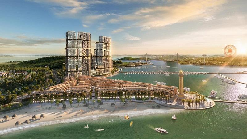 Ảnh 1: Chung cư Sun Grand City Marina hiện lên như biểu tượng của TP Hạ Long